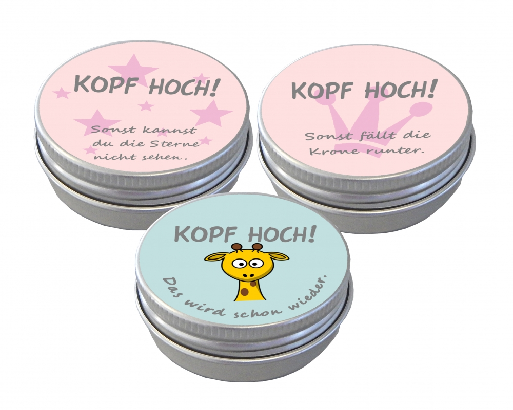 Motivationsdosen KOPF HOCH 6er Set